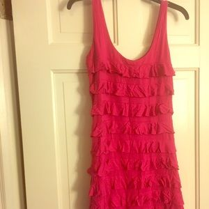 Express Pink Ruffled Mini Dress- XS